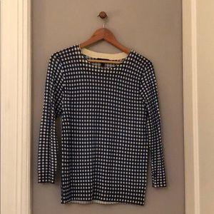 JCrew Blue Gingham 'Tippi' Sweater